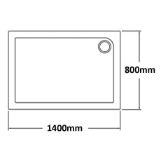 1400 x 800 Shower Trays