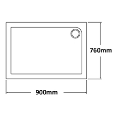 900 x 760 Shower Trays