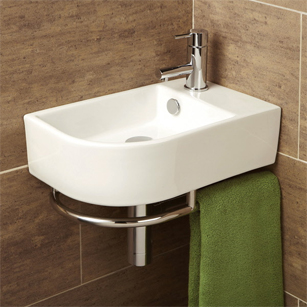 Small Basins Space Saving Slimline Compact Cloakroom