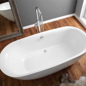 April Cayton Thin Rim Freestanding Bath 1500mm Overhead