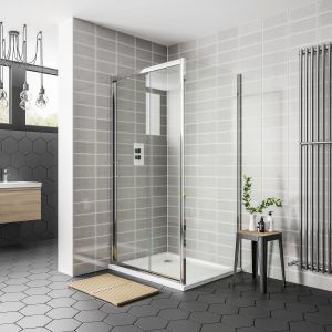 April Destini Sliding Shower Door with Optional Side Panel