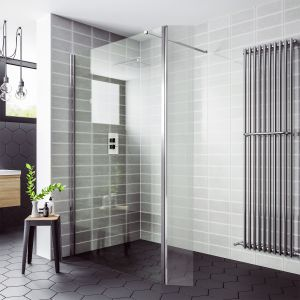 April Destini Wet Room Shower Enclosure with Return Panel