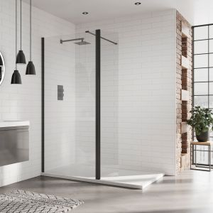 April Identiti 8 Black Wet Room Shower Enclosure