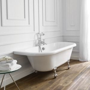 April Kildwick Back to Wall Freestanding Bath