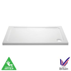 April Rectangular Anti Slip Shower Tray 1200 x 700