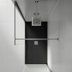 Aquadart Black Slate Shower Tray 1400 x 760 Overhead