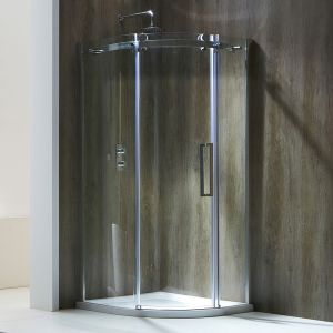 Frontline Aquaglass+ Single Door Offset Quadrant Shower Enclosure