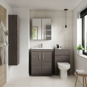 Premier Athena Grey Avola Double Door Tall Unit 300mm Lifestyle