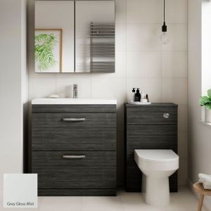 Nuie Athena Gloss Grey Mist Furniture Pack 1312mm