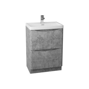 Bali Concrete Grey Floor Standing Vanity Unit 600mm