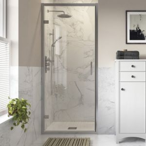 Bathrooms To Love Reflexion Iconix Hinged Shower Door with Optional Side Panel