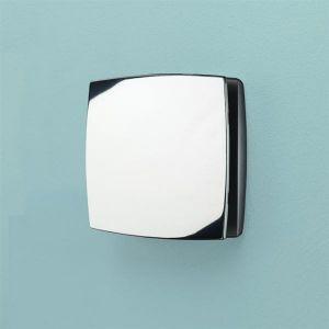 HiB Breeze Wall Mounted Chrome Wetroom Extractor Fan with Humidity Sensor