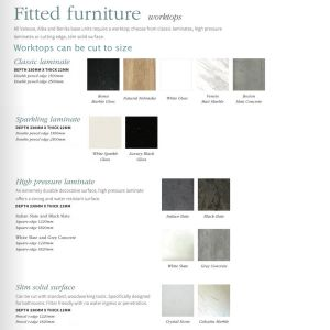 Fitted furniture worktop colours