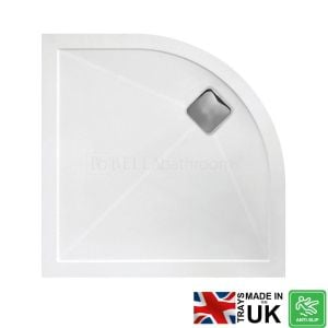 Bathrooms To Love Quadrant Anti-Slip Shower Tray with Waste 800mm x 800mm
