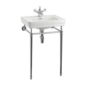 Burlington Victorian Contemporary Basin with Chrome Stand 575mm