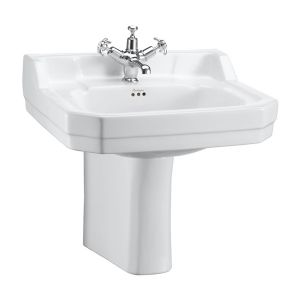 Burlington Edwardian Basin and Semi Pedestal 560mm