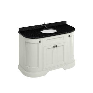 Burlington Sand Freestanding Curved Vanity Unit 1340mm Granite Black