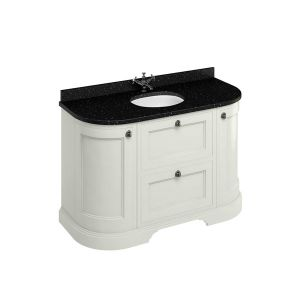 Burlington Sand Freestanding Round Vanity Unit 1340mm Granite Black
