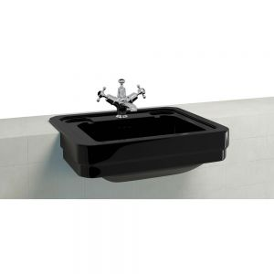 Burlington Jet Classic Rectangular Semi Recessed Basin 580mm