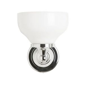 Burlington Round Light with Chrome Base and Frosted Glass Shade