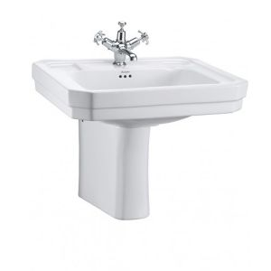 Burlington Victorian Basin with Semi Pedestal 610mm