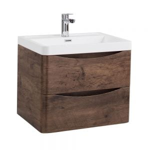 Bali Chestnut Wall Mounted Vanity Unit 600mm