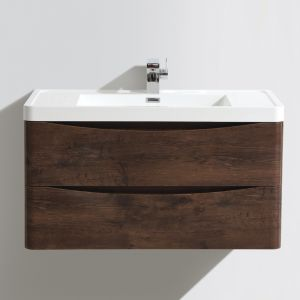 Bali Chestnut Wall Mounted Vanity Unit 900mm