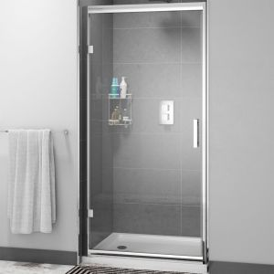 Cassellie Cass Six Hinged Shower Door with Optional Side Panel
