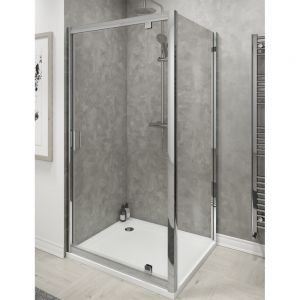 Cassellie Seis Pivot Shower Door with Optional Side Panel