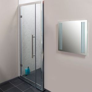Cassellie Cass Eight Hinged Shower Door with Optional Side Panel