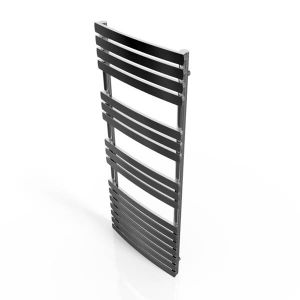 Cassellie Chrome Straight Heated Towel Rail With Flat Profile 1200 x 500mm
