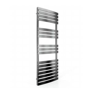 Cassellie Chrome Straight Heated Towel Rail With Flat Profile