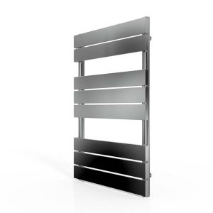Cassellie Chrome Straight Towel Rail With Flat Profile 800 x 500mm