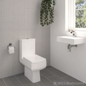 Cassellie Daisy Lou Cloakroom Suite with Rectangular Wall Hung Basin