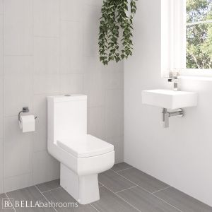 Cassellie Daisy Lou Cloakroom Suite with Wall Hung Basin 330mm