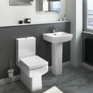 Cassellie Daisy Lou Flush To Wall Close Coupled Toilet