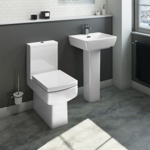 Cassellie Daisy Lou Comfort Height Close Coupled Toilet with Slimline Seat