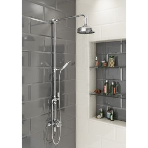 Cassellie Grand Traditional Rigid Riser Shower Kit Lifestyle