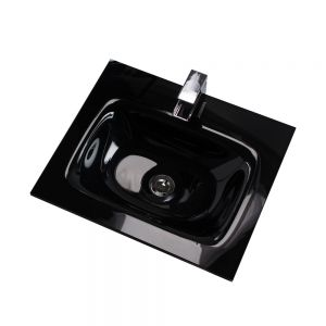 Cassellie Idon Black Glass Basin 510mm