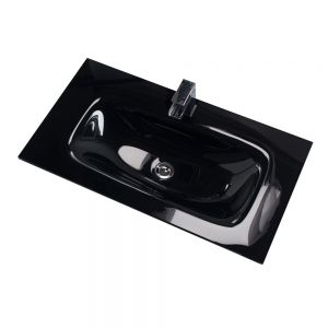 Cassellie Idon Black Glass Basin 810mm