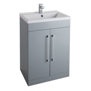 Cassellie Grey Vanity Unit with Basin 600mm