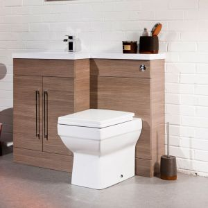 Medium Oak L Shape Double Door Combi Pack Left Hand