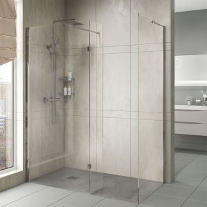Cassellie Marna Wet Room Panel with Optional Side Panel