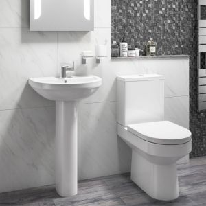 Cassellie Montego Toilet and Basin Set