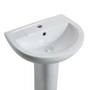 Cassellie Montego 1 Tap Hole Basin with Full Pedestal Detail