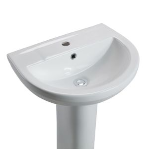 Cassellie Montego Basin with Full Pedestal