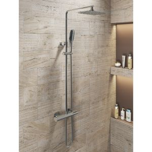 Cassellie Oval Thermostatic Shower Kit Lifestyle