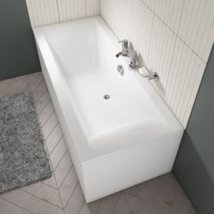 Cassellie Lime Straight Double End Square Style Bath 1700mm
