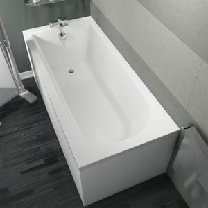 Cassellie Grange Straight Single End Round Style Bath 1700mm