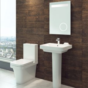 Cassellie Rivelin 1 Tap Hole Basin with Full Pedestal